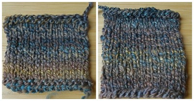 Plied and combined.