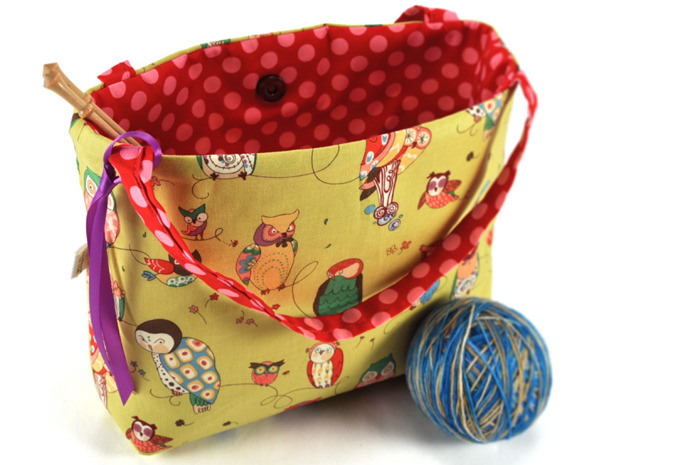 Project tote bag pouch handmade madbird knitting supplies bags purses