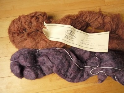 Merino. cashmere and silk (top), merino and silk (bottom)