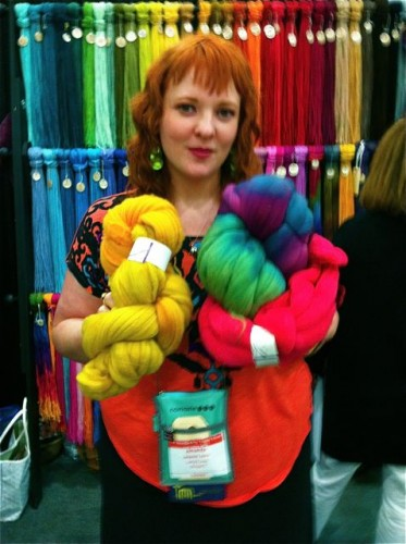 Lorna's Laces has spinning fiber in all of their colorways.