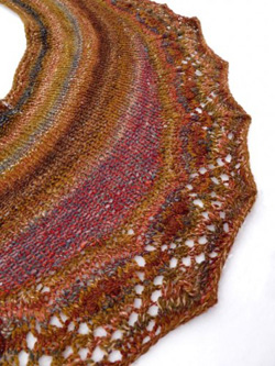 Annis knit out of handspun