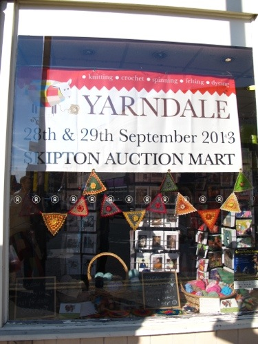 Signs in the charity shops in town announce the event