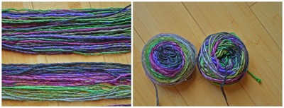 Regular and color progression yarn.