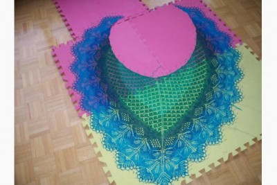 Susan Cottrell's original shawl