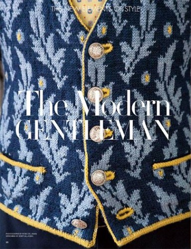 Franklin Habit designed this beautiful vest for Vogue Knitting's Early Fall issue.