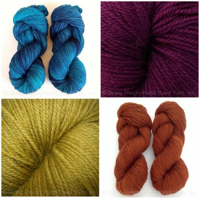 Bluestocking yarn, just a few of the colors.