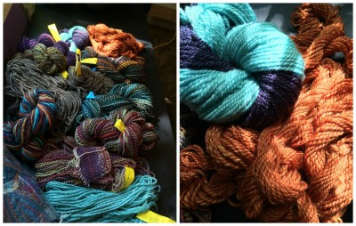 Final Tour yarn and a close up of semi-solids