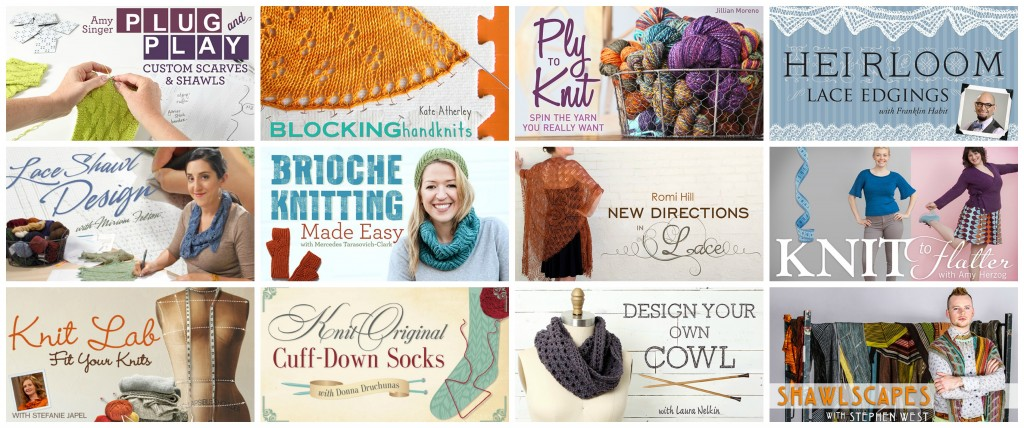 Knitty designers on Craftsy!
