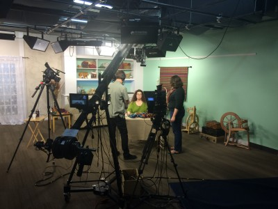 Filming at Interweave!