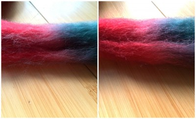 dyed bfl smoth rough