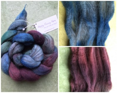 Happy Fuzzy Yarn, 50%Merino/50% Yak top in Crete
