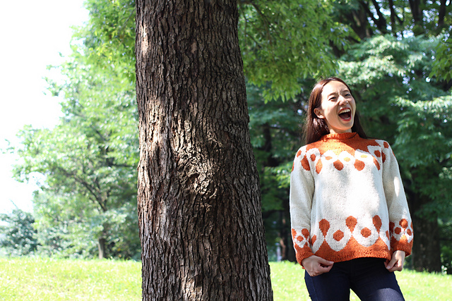 Pierrot: a sweater unlike any other...so joyous!