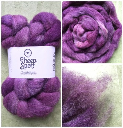 Sheepspot Coopworth Roving in Amethyst