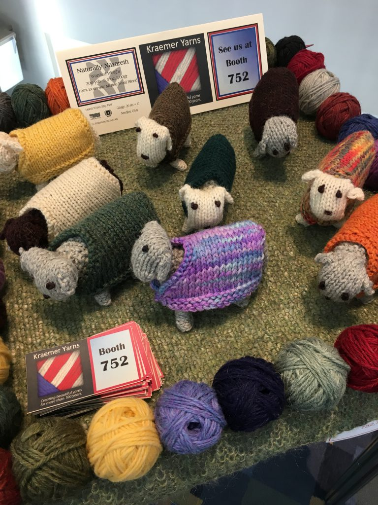 Adorable sheepies from Kraemer Yarns