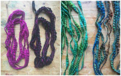Spiral yarns