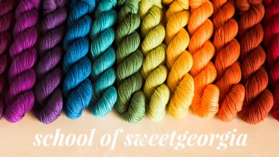 sweet georgia rainbow of yarns