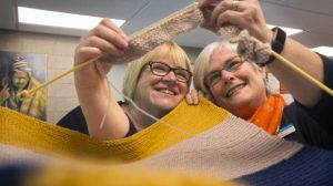 Timaru baby blanket knitting