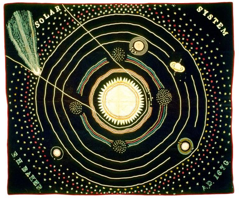 baker's solar system quilt
