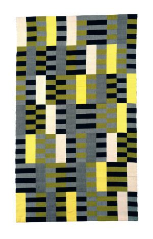 Anni Albers Black White Yellow 1926, re-woven 1965