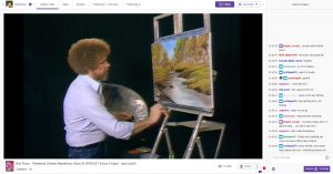 Screenshot of Bob Ross on Twitch