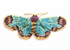 Zamarada Moth (Zamarada scintillans) knit by Max Alexander