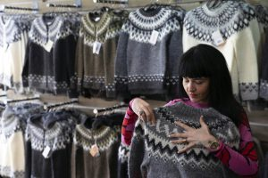"""lopi"" sweater made in china, sold in iceland"