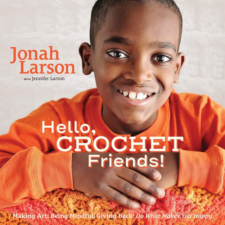 book cover for hello, crochet friends!