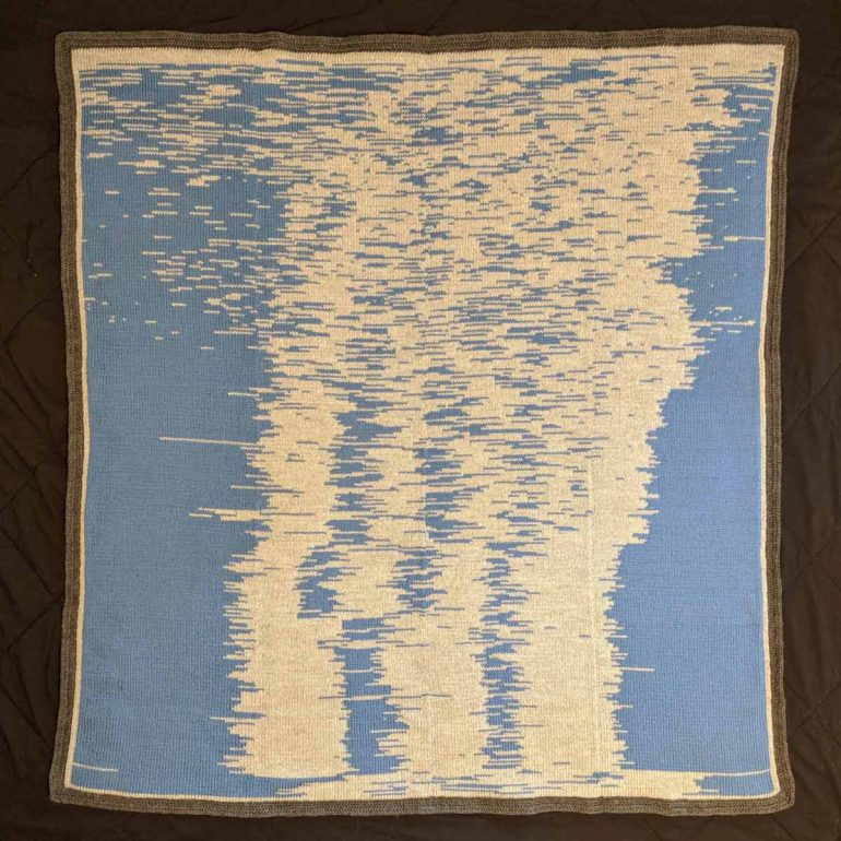 Sueng Lee's first year sleep double knit blanket